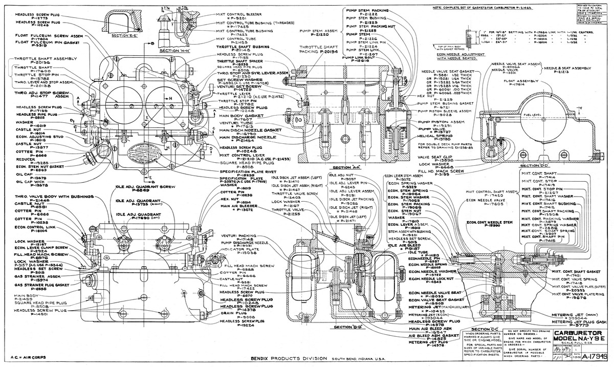 Db Design Bureau Cac Wirraway Technical Information Exploded Diagram Of A Battery Stromberg Na Y9e Carburettor Schematic Showing All Parts Numbered